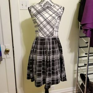 Xhiliaration Black/White Plaid Dress, S
